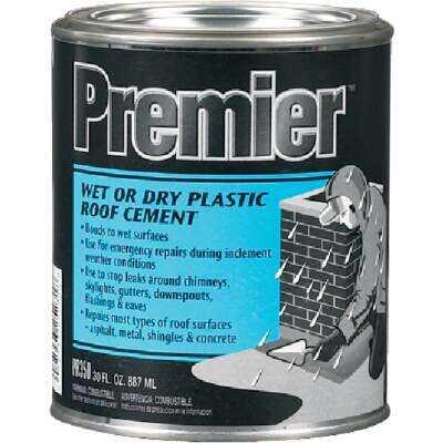 Premier 350 30 Oz. Wet or Dry Plastic Roof Cement