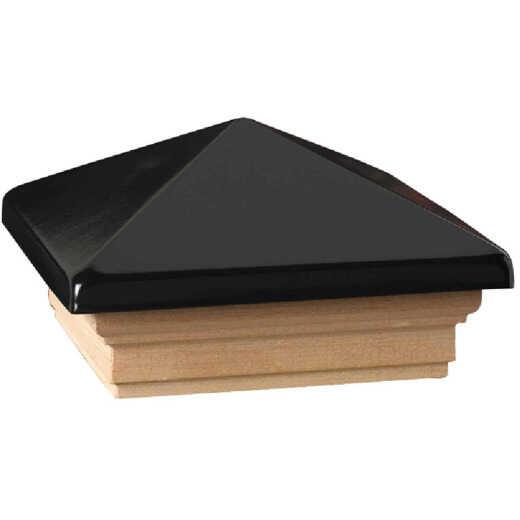 Deckorators 4 In. x 4 In. Plastic Top, Pressure Treated Pine Base Press-On Post Cap