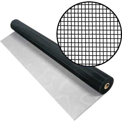 Phifer 48 In. x 100 Ft. Black Aluminum Screen